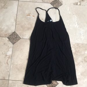 Black racer back dress